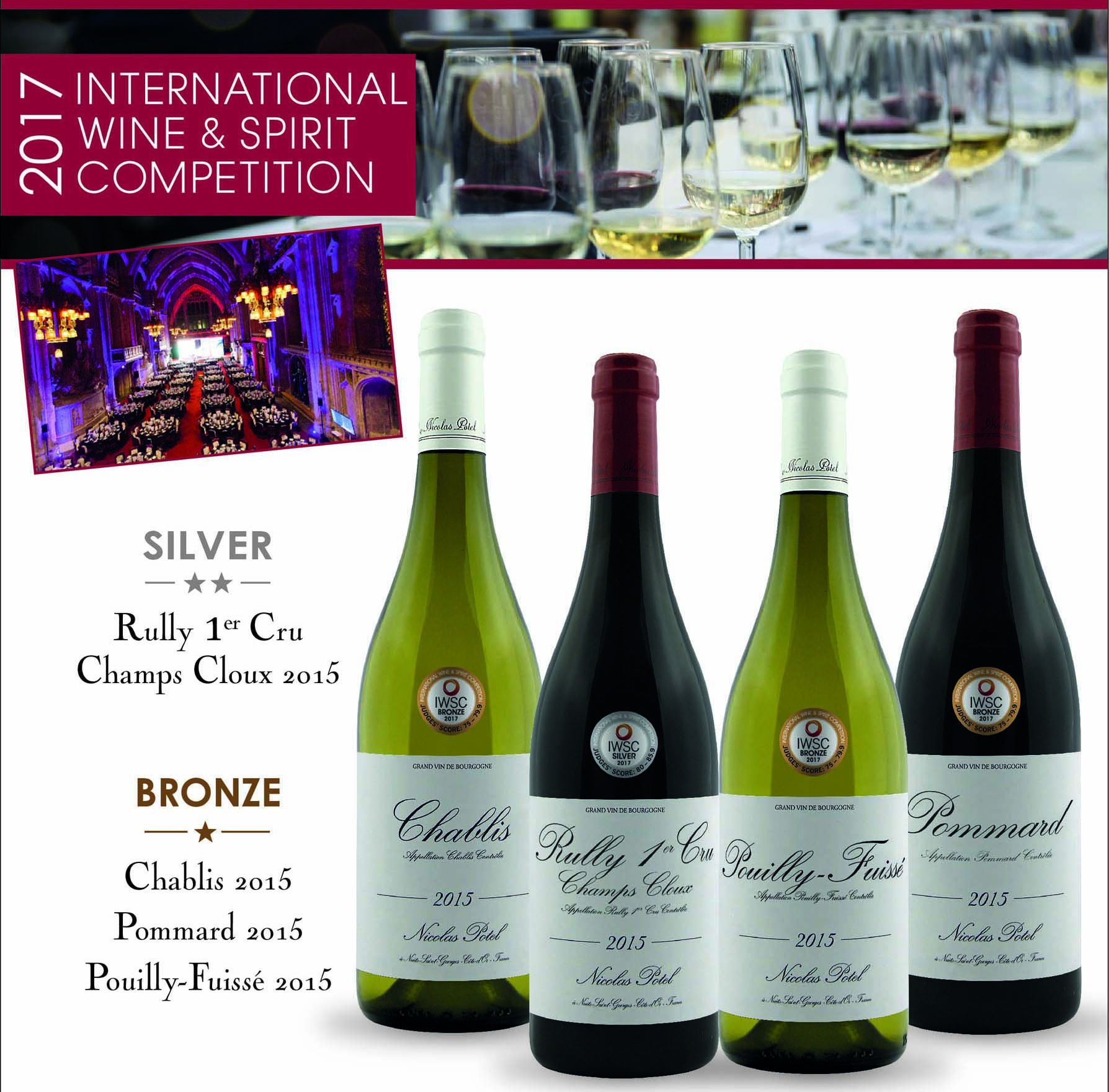 4 medals for Maison Nicolas Potel at the IWSC 2017